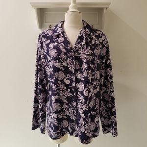 NWT Soma Embraceable Notch Collar PJ Top XL